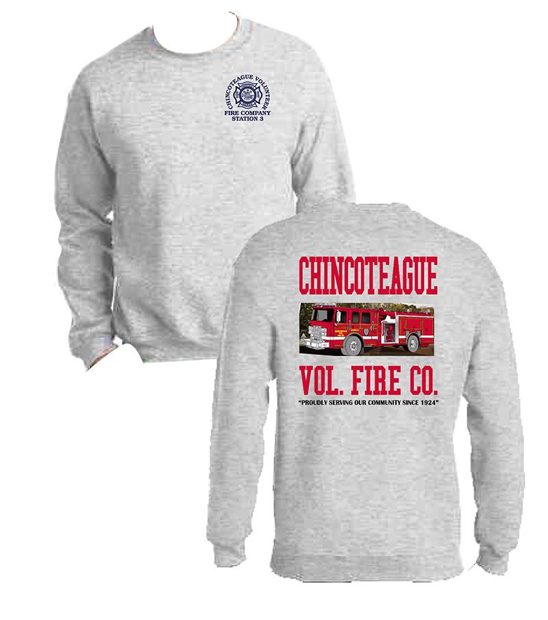 Gray crew-neck sweatshirt